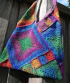 Ravelry: Project Gallery for Masa Bag pattern by Lisa RisagerCrochet bag made from various size grannies The place where construction meets design, beaded crochet is the act of using beads to embellish crocheted items. Crochet is derived from the Fre Crochet Purse Patterns, Bag Crochet, Crochet Shell Stitch, Crochet Handbags, Crochet Purses, Crochet Crafts, Crochet Projects, Bag Patterns, Free Crochet