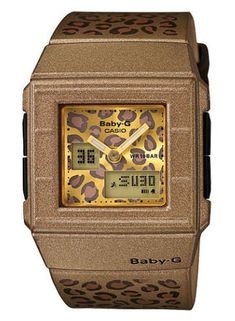 Women's Wrist Watches - Casio BGA200LP5E Womens BabyG GoldLeopard World Time Digital Watch * You can get more details by clicking on the image.
