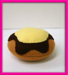 Natural Wool Felt Play Food  Donut  Banana Cream  by EvaLauryn, $22.00