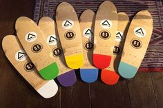 Penny cruisers #longboard #handcraft #wood #skateboard #penny #school #colours #surf #shop #handmade