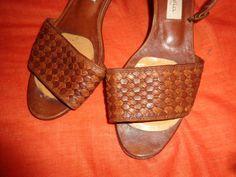 Vintage Sandalen - Sandalen+Schuhe*Vintage*Braun*Leder*37* - ein Designerstück von SweetSweetVintage bei DaWanda