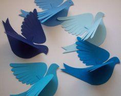 Papel de las avesMolly pájarocinco pájaros Natural