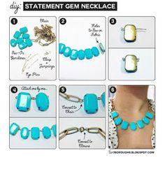 Couturella: DIY statement Necklace ideas