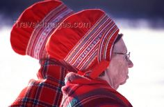 Hats from the Sami in Lapland, Finland