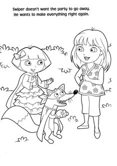 76 best coloring pages dora diego