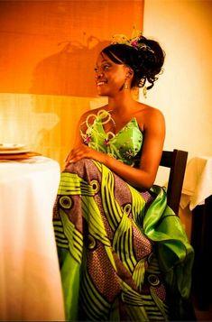 African long dress: brown and green ~Latest African Fashion, African Prints, African fashion styles, African clothing, Nigerian style, Ghanaian fashion, African women dresses, African Bags, African shoes, Nigerian fashion, Ankara, Kitenge, Aso okè, Kenté, brocade ~DK