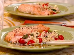Get Robin Miller's Honey Mustard Glazed Salmon Fillets Recipe from Food Network