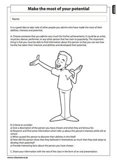 e-classroom-Free-Worksheets-Grade 2 Term 1 Lifeskills EVERYONE IS ...