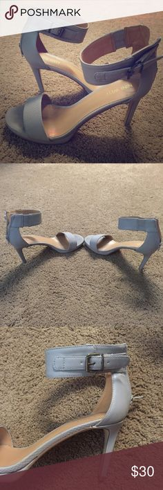 Nine West Heels Size: 8. Grey. Worn once to my high school graduation. Great condition. Not too high Nine West Shoes Heels