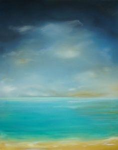 "Saatchi Online Artist Nancy Richardson; Painting, ""the silent sea"" #art"