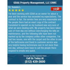 I've been working with GDAA as an owner for about a year and the service has exceeded my...