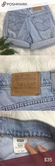 Levi Lightwash high waisted Denim shorts Waist 30 in, very comfortable, 20% off bundles, open to offers Levi's Shorts
