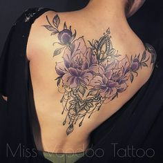 Stunning Floral Back Tattoos For Women