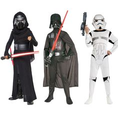 2016 Gratis verzending Star War Storm Trooper Darth vader (Anakin Skywalker) kinderen Cosplay party kostuum kleding cape en masker