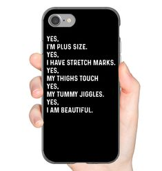 Yes I'm Plus Size I Have Stretch Marks Funny iPhone Case & Funny Samsung Gelaxy Case Flexi, Tough And Slim Phone Case Girl Phone Cases, Funny Phone Cases, Cool Iphone Cases, Birthday Gifts For Best Friend, I Am Beautiful, Funny Outfits, Badass Quotes, Funny Mugs, Stretch Marks