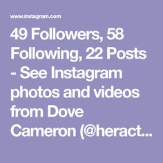 49 Followers, 58 Following, 22 Posts - See Instagram photos and videos from Dove Cameron (@heractresswayzx) Dove Cameron, Followers, Posts, Photo And Video, Videos, Instagram, Messages, Video Clip, Fandom