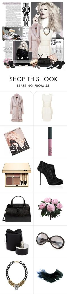 """my own skin"" by jesuisunlapin ❤ liked on Polyvore featuring Claudia Schiffer, Kai, Roberto Cavalli, Emilio De La Morena, NARS Cosmetics, Clarins, Giuseppe Zanotti, Marc Jacobs, PEONY and D.L. & Co."