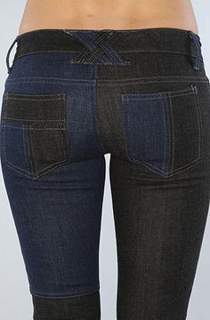 Tripp NYC The Patch Jean in Indigo and Dark Gray