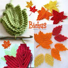 Para celebrar la llegada del otoño, os propongo tejer estas hojas de arce. Son una bonita decoración y os permitirán practicar la lectura y ...