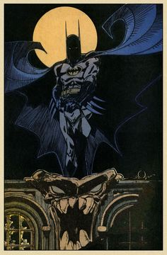 It's pretty hard for a good artist to NOT make a good pin-up drawing of the Batman, but some artists make great pin-up drawings of the Dark Knight, in this case by Walt Simonson. Batwoman, Nightwing, Batgirl, Dc Comics Art, Marvel Comics, Comic Superheroes, Marvel Dc, Comic Books Art, Comic Art