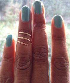 Gold Midi Ring Spiral Ring UK Shop by PABJewellery on Etsy