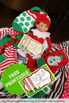 Elf Does Laundry plus FREE Elf Notes for you to print from home. Details on Frugal Coupon Living.