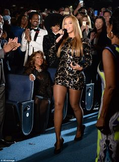 Crowd pleaser: The Drunk In Love singer had the audience on their feet