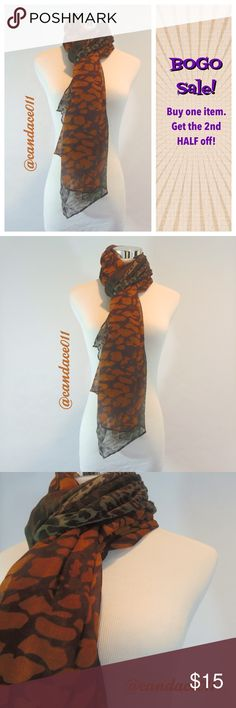 "Cheetah Print Scarf (Brown) ❇️Bundle to save 15%!❇️ 🔹Length: 70"" - Width: 32"" 🔹100% Viscose 🔹Lightweight CC Boutique  Accessories Scarves & Wraps"