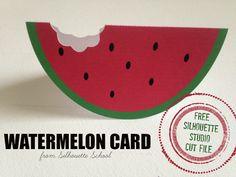 Adorable Watermelon Card (Free Silhouette Studio Cut File) ~ Silhouette School