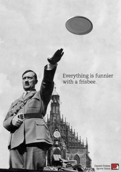 Another controversial Hitler ad. Danish Frisbee Sports Union