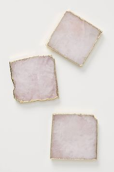 Agate Coaster by Anthropologie in Pink, Kitchen Sold individually. Due to the nature of agate, expect variation the appearance of each unique piece. Agate Coasters, Drink Coasters, Black Coasters, Modern Coasters, Marble Coasters, Resin Crafts, Resin Art, Capri Blue, Crystal Collection