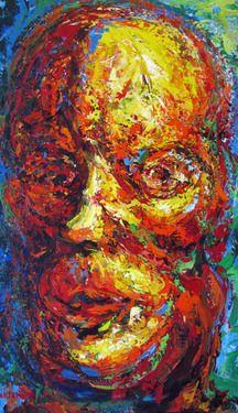 "Saatchi Art Artist Shant Beudjekian; Painting, "" A Portrait of a Middle Aged Man II "" #art"