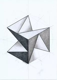 Geometry Drawing - Drawing Techniques Geometry Art Geometric Drawing Geometric Art Geometric Drawing At Paintingvalley Com Explore Collection Of Geometric Shape. Illusion Kunst, Illusion Art, Geometric Designs, Geometric Shapes, Escher Kunst, Geometric Drawing, Triangle Drawing, Triangle Art, Triangle Pattern