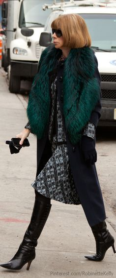 Street Style | Anna Wintour - the coat!!!