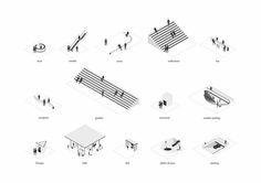 Architectural Drawing Gautier Rey architecture portfolio More More - Architecture Graphics, Architecture Drawings, Concept Architecture, Architecture Diagrams, Architecture Memes, Landscape Architecture Portfolio, Architecture Mapping, Landscape Architects, Architecture Student