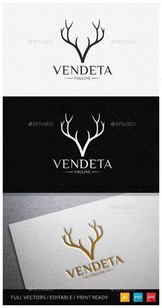 Vendeta  Letter V Logo Template — Photoshop PSD #letter #luxurious • Available here → https://graphicriver.net/item/vendeta-letter-v-logo-template/11627680?ref=pxcr