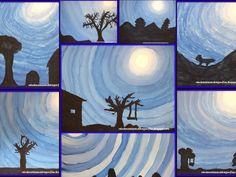 My 5th grade classes painted these monochromatic skies back in January. I have seen many versions of this lesson on blogs and or...