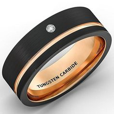 LIFETIME WARRANTY | Made of tungsten carbide, very hard to deform, scratch resistant and durable and Cubic zirconia diamond stone. CHESELE LLC