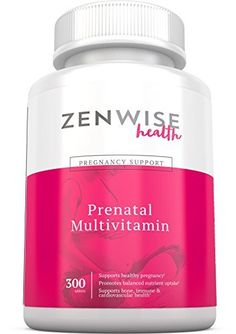 Prenatal Vitamins - Multivitamin With Folic Acid, Probiotics, Biotin and Vitamin A & C - Optimal Women's Supplement for Healthy Pregnancy - Brain, Bone, Immune & Heart Support - 300 Count Tablets //Price: $18.97 & FREE Shipping //     #hashtag2
