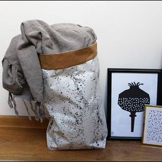 Poppy kraft paper bag storage toys sack Storage Binscandi