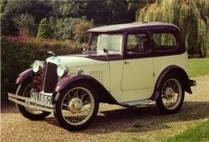 1931 Austin Seven Swallow Saloon Maintenance of old vehicles: the material for new cogs/casters/gears/pads could be cast polyamide which I (Cast polyamide) can produce Retro Cars, Vintage Cars, Antique Cars, Vintage Auto, Vintage Room, Art Deco Car, Austin Cars, Austin Seven, Sweet Cars