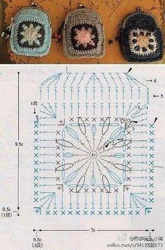 Patrón para crear un monedero de crochet