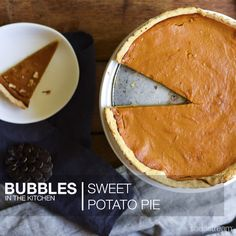 Sweet Potato Pie   What you'll need:  • 2 tablespoons unsalted butter – room temp • 1/3 cup light brown sugar  • 1 large egg  • 1 tablespoon Sodastream Orange Flavour  • 1 tablespoon honey  • 1 large sweet potato, cooked and mashed  • 1 185ml Can evaporated milk  • ½ teaspoon vanilla extract  • ½ teaspoon salt  • 1/8 teaspoon ground nutmeg  • 1 9-inch refrigerated pie crust. Steps can be found by clicking on image link! Potato Pie, Sweet Potato, Refrigerated Pie Crust, Evaporated Milk, Large Egg, Unsalted Butter, Brown Sugar, Vanilla, Bubbles