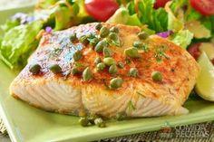 Receita de Salmão assado com cheddar em receitas de peixes, veja essa e outras receitas aqui!