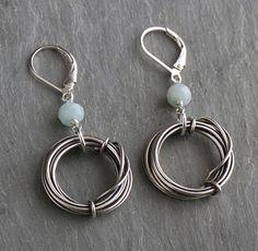 Oxidized Sterling Coil Earrings