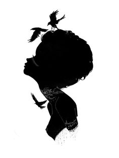 One of my new silhouettes. Meet Ravelyn. Original available via Shooting Gallery SF. Prints to come soon.