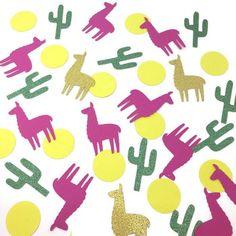 Llama Confetti alpaca confetti birthday party confetti | Etsy