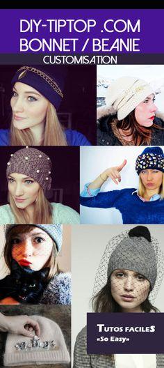 16 customisations de bonnet. Refresh your beanie. DIY faciles et rapide à lire sur le blog