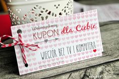 Kupony na Walentynki do druku - partymika Valentines Day Party, Gift Wrapping, Gifts, Asia, Gift Wrapping Paper, Presents, Wrapping Gifts, Favors, Gift Packaging