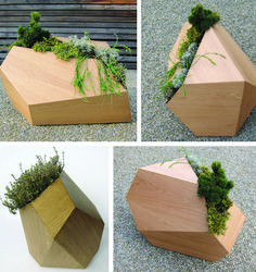 faceted planters